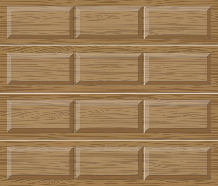 Houten garagedeuren sectionaal 11