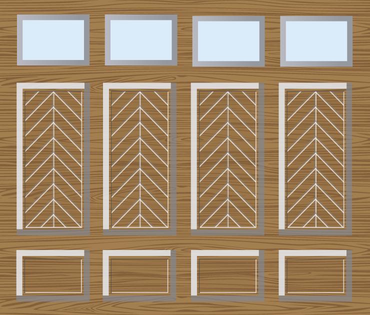 Houten garagedeuren sectionaal 15