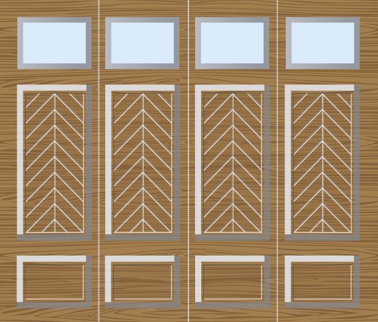 Houten garagedeuren zijwaarts 15